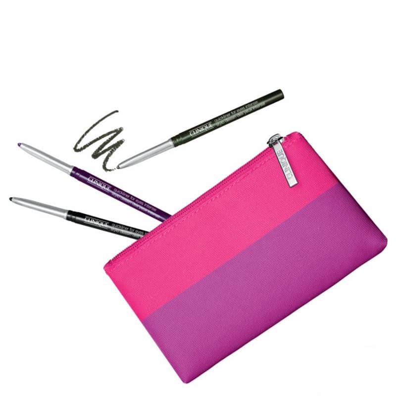 Kit Clinique Quickliner Intense Color - Lápis de Olho 3x14g + Nécessaire