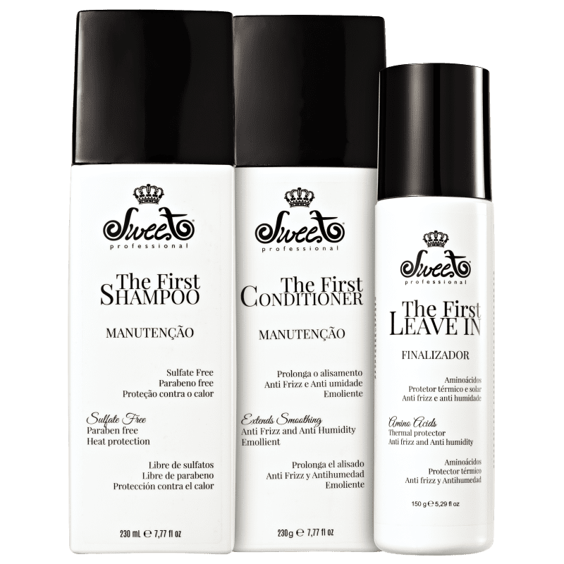 Kit Sweet Hair The First Manutenção Leave-in Triplo (3 Produtos)