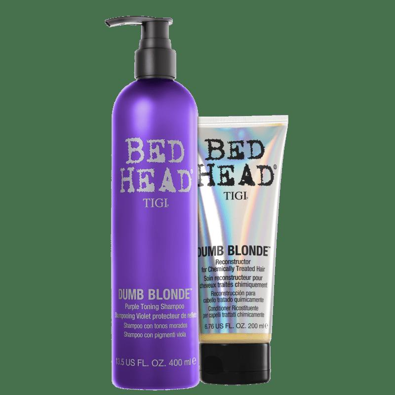 Kit TIGI Bed Head Dumb Blonde Purple Toning Duo (2 Produtos)