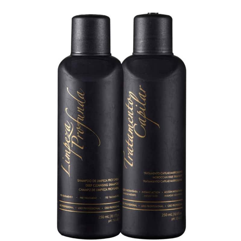 Kit G.Hair Tratamento Capilar Marroquino Escova Marroquina (2 Produtos)