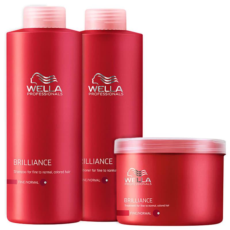 Kit Wella Professionals Brilliance Intense Litro (3 Produtos)