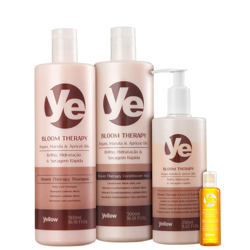 Kit Yellow Bloom Therapy Oil Completo (4 Produtos)