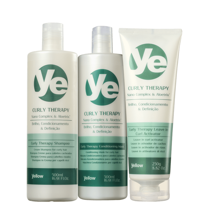Kit Yellow Curly Therapy Activator (3 Produtos)