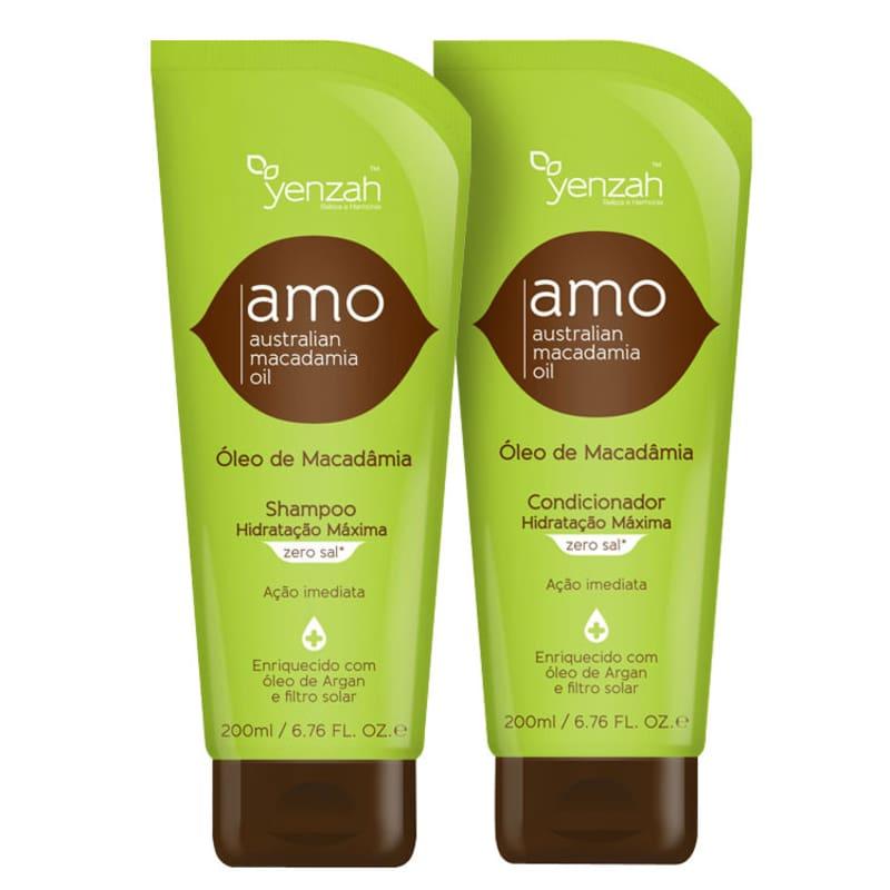 Yenzah Amo Australian Macadamia Oil Duo Kit (2 Produtos)