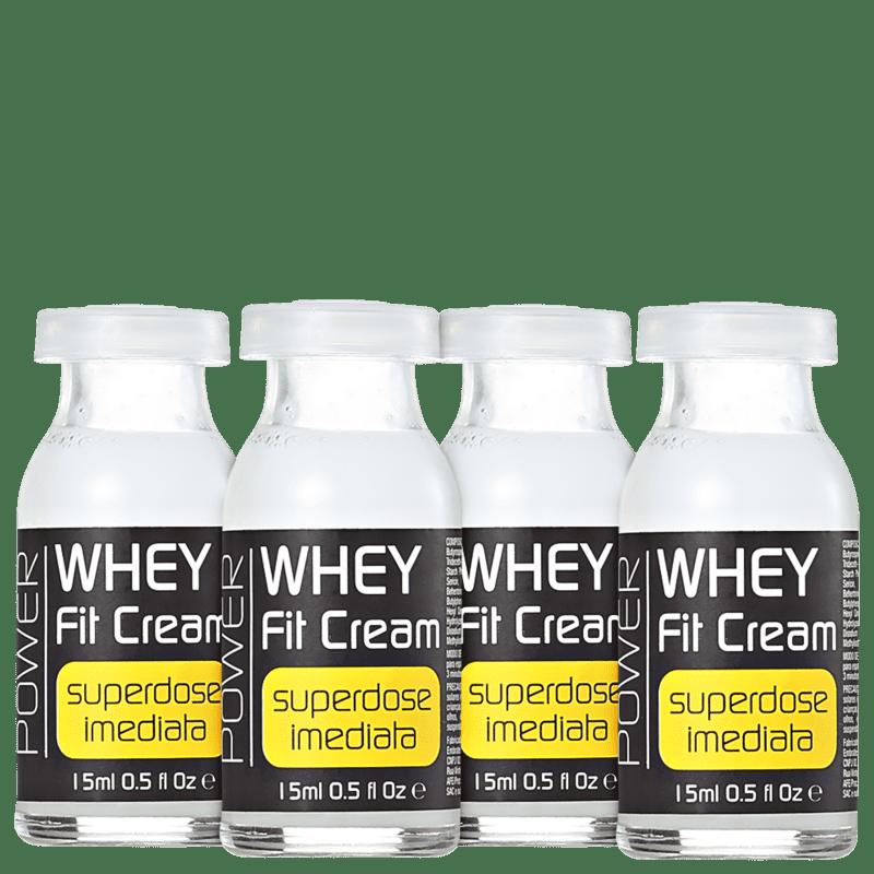 Yenzah Power Whey Fit Cream - Ampola Capilar 4x15ml