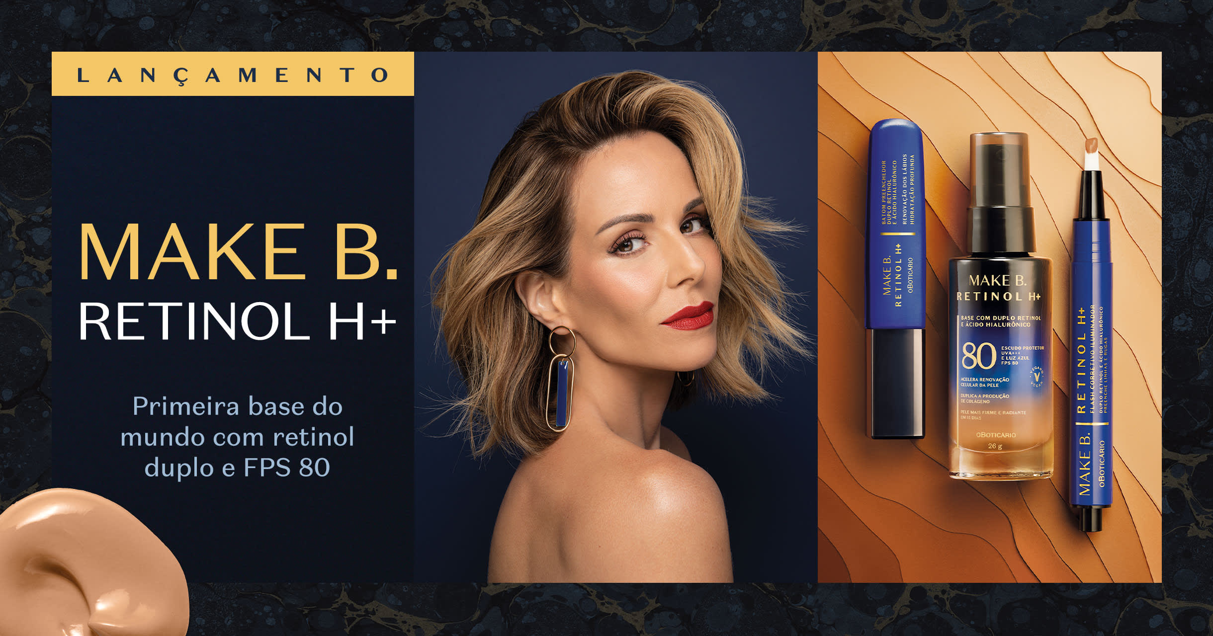 Alta performance e tecnologia em maquiagens com tratamento.