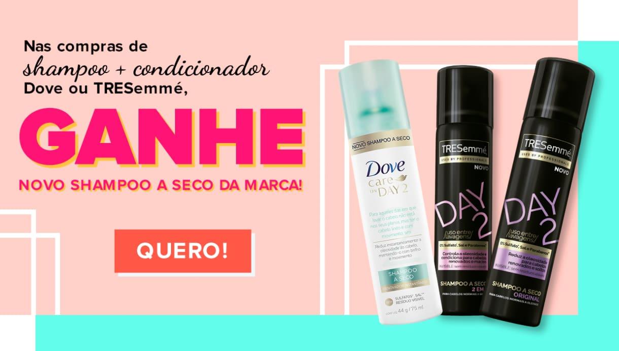 Home: Compre Shampoo e Cond e ganhe Shampoo a Seco