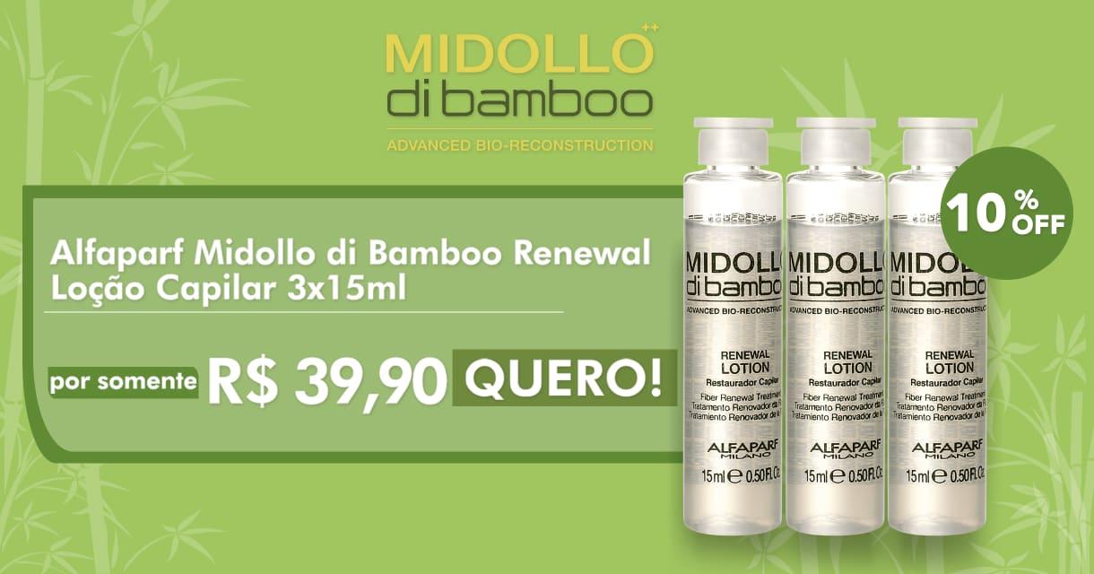Home: Midolo Di Bamboo Ampola com 10% OFF