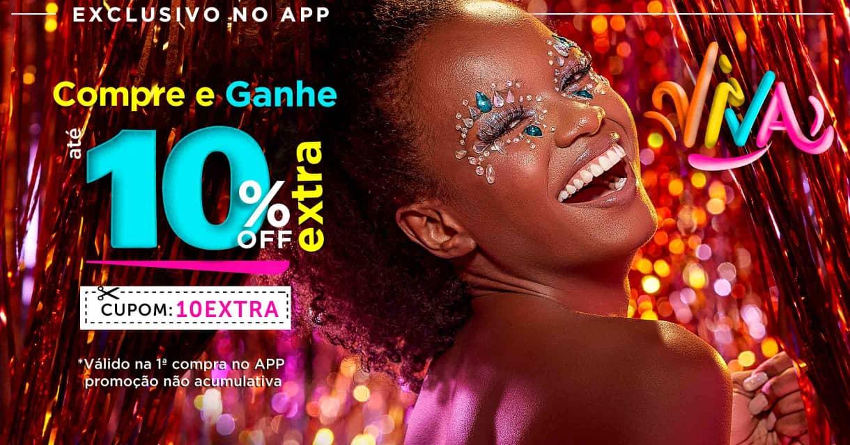 Home: APP: ganhe 10% extra carnaval