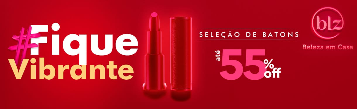 Home: Maquiagem: #fique vibrante batons ate 55% off bannerfita