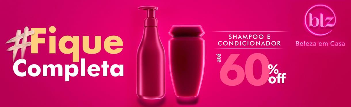 Home: Cabelos: #fiquecompleta shampoo + cond ate 60% off bannerfita