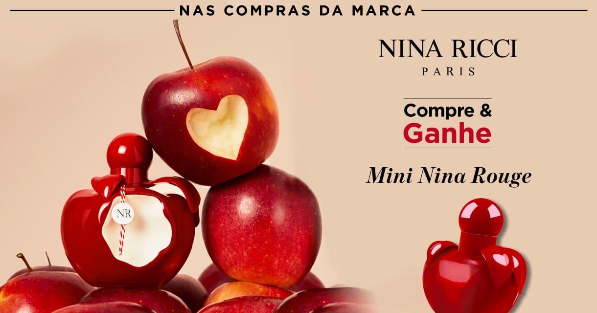 Perfumes: Nina Ricci Compre e Ganhe Mini Nina Rouge  Sku. 75022