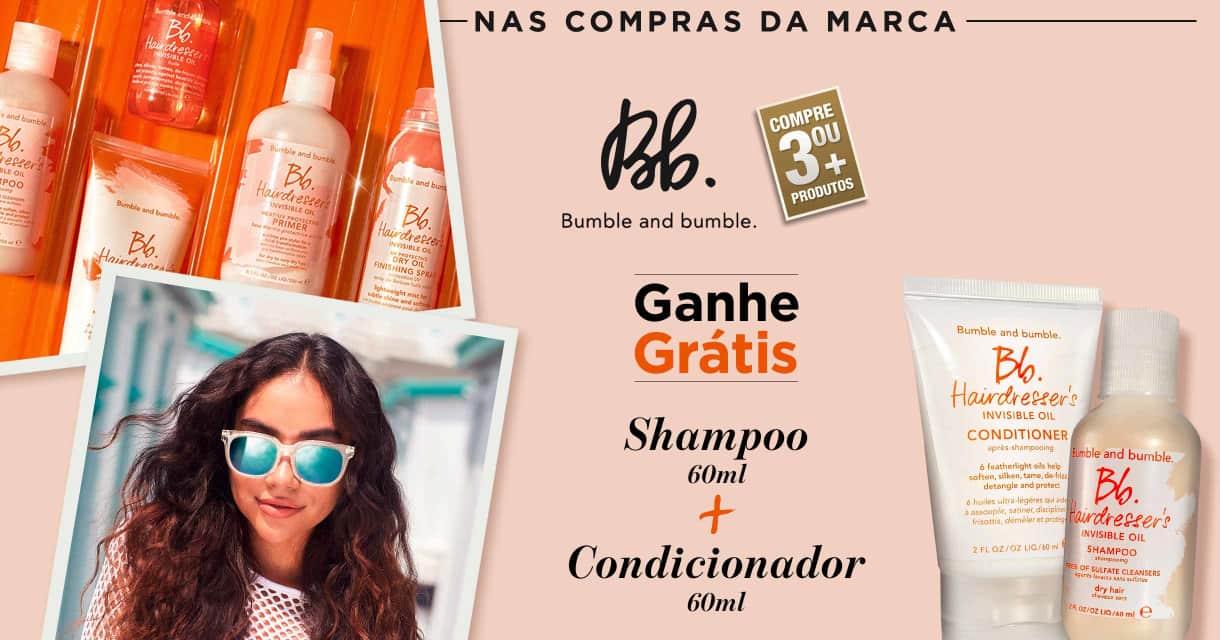 Cabelos: Bumble and Bumble: Ganhe shampoo + condicionador em 3 ou +
