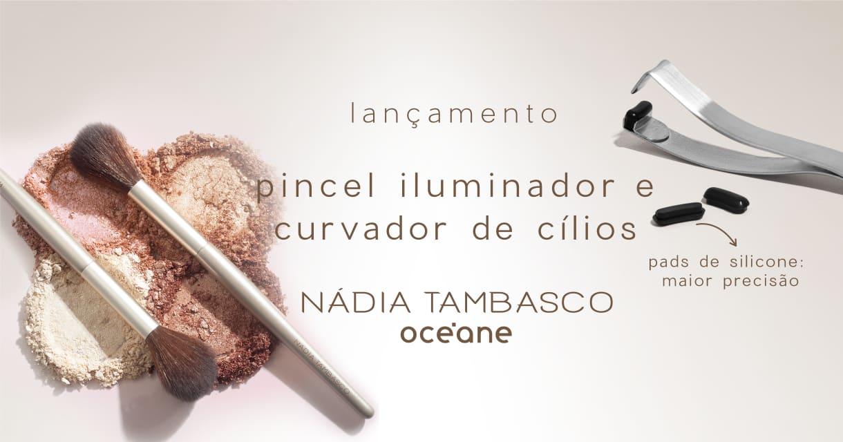 Banner Lançamento Nádia - Curvador e Pincel