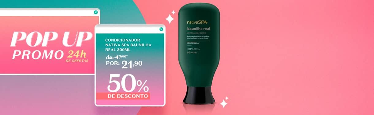 Oferta do dia: Condicionador Nativa Spa Baunilha com 50%OFF