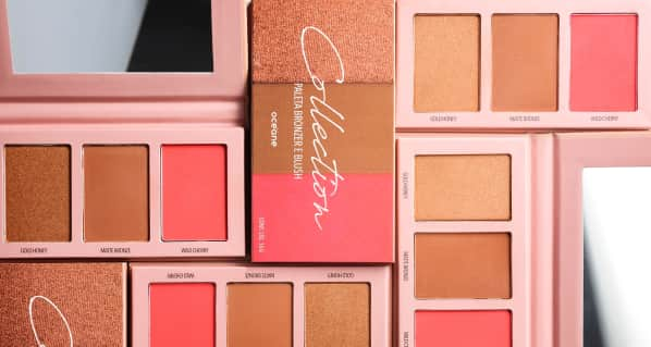 Paleta Bronzer e Blush Collection 16G
