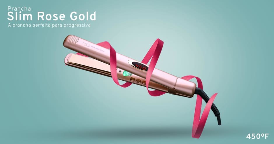 MQ Prancha Slim Rose Gold
