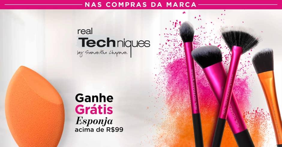 Maquiagem: Real Techniques ganhe grátis 29216 acima de R$ 99
