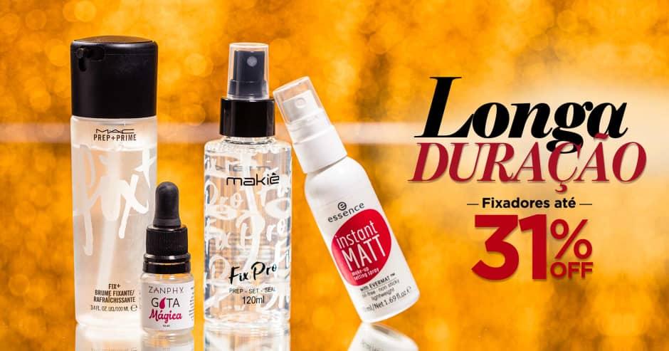 Maquiagem: Fixadores de longa duração até 31% Off