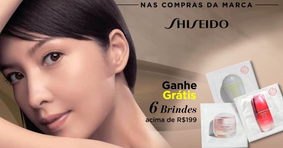 Pele: Shiseido ganhe grátis 6 amostras acima de R$199
