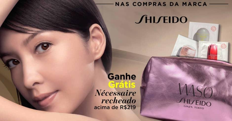 Pele: Shiseido ganhe grátis necessaire recheado acima de R$219
