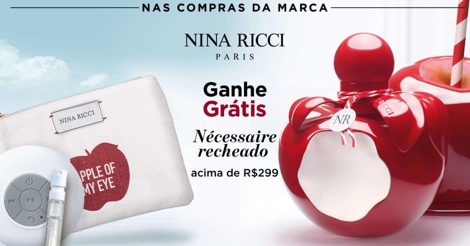 Perfume: Nina Ricci ganhe grátis nécessaire recheado acima de R$299