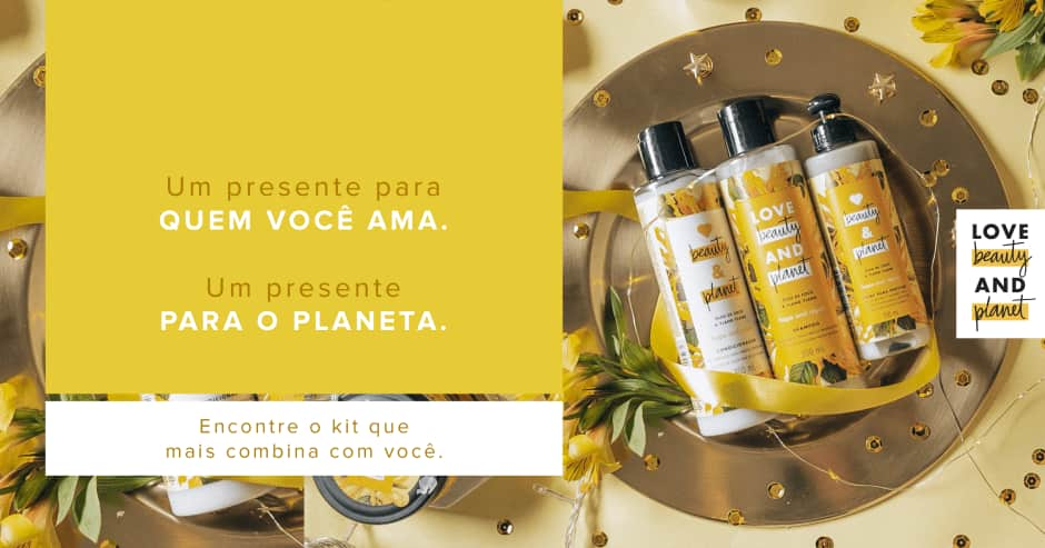 Kits Presente Love Beauty and Planet