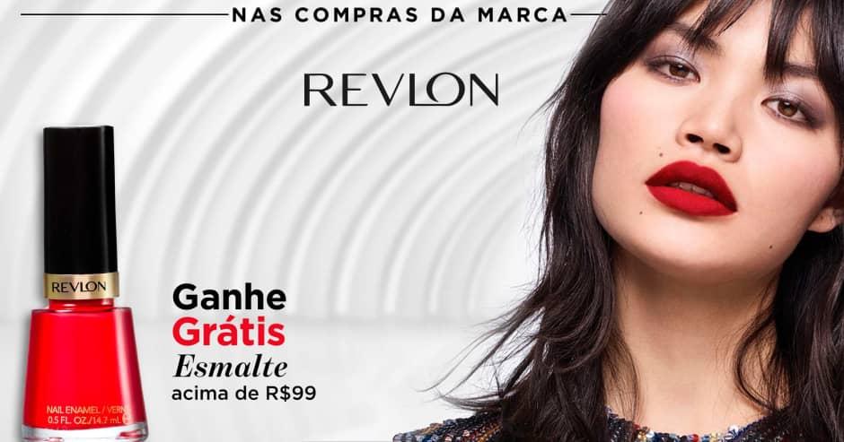 Maquiagem: Revlon: Ganhe 6224 nas compras da marca acima de R$ 99