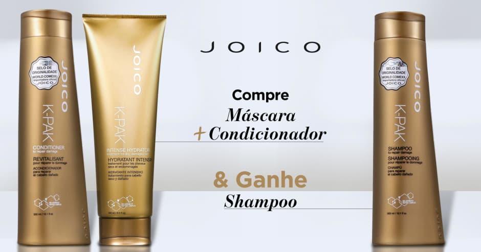 Cabelos: Joico: Ganhe shampoo na compra de máscara + condicionador