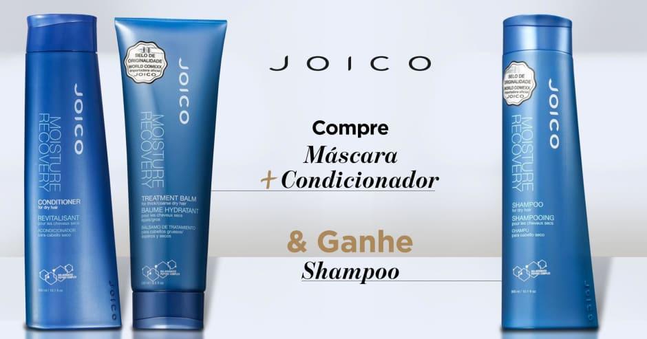 Cabelos: Joico: Compre condicionador + máscara e ganhe shampoo Linha Moisture Recovery