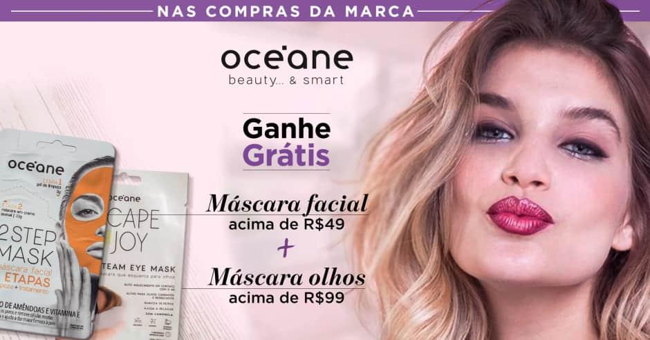 Maquiagem: Oceane: Ganhe sku. 61650 acima de  R$49  + 69963 acima de R$ 99