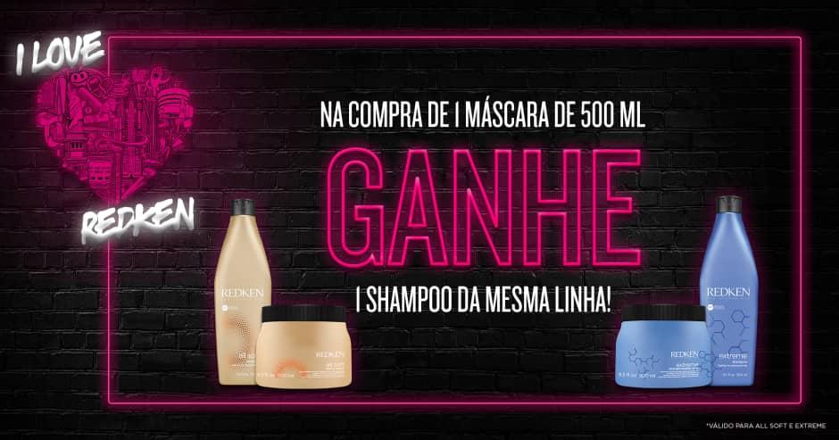 Cabelos: Redken: Compre máscara e ganhe shampoo