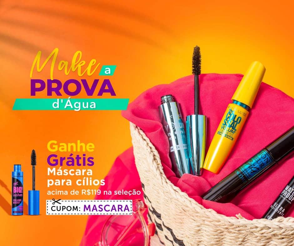 Home: Maquiagem: Summer Sale Makes a Prova d'Água Ganhe 56582 > R$119 [2] bannerfita