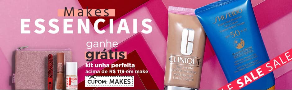Home: Maquiagem: Sale Trendy: Makes Essenciais Ganhe kit unha > 119 [2] bannerfita