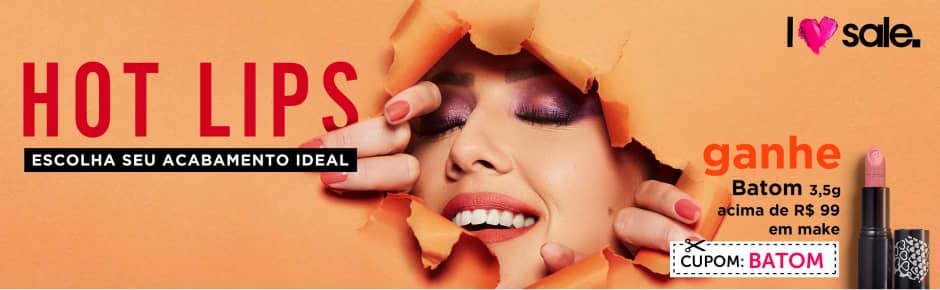 Home: Maquiagem: Love Sale Hot Lips ganhe batom 82387 acima de R$99 bannerfita [2]