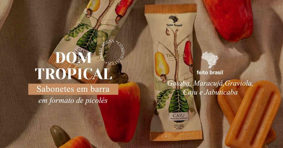 Feito Brasil - Dom Tropical Sabonete