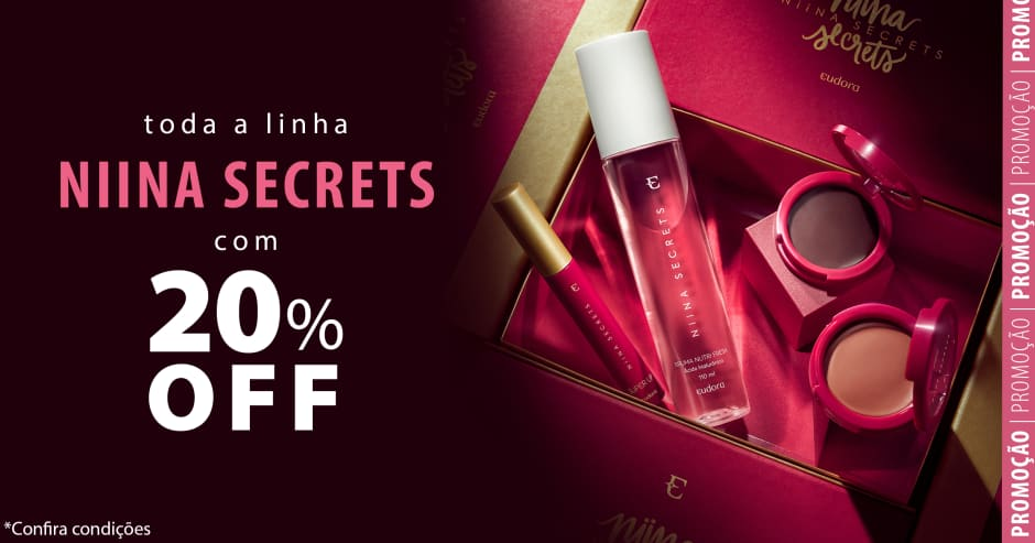 Todos os produtos da linha Niina Secrets em oferta!