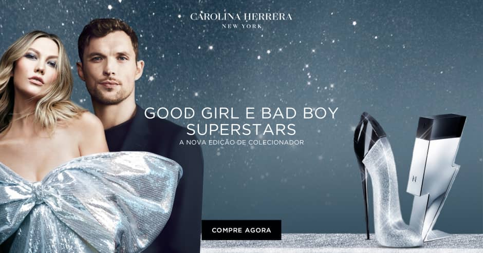 Banner Carolina Herrera Gold Girl e Bad Boy