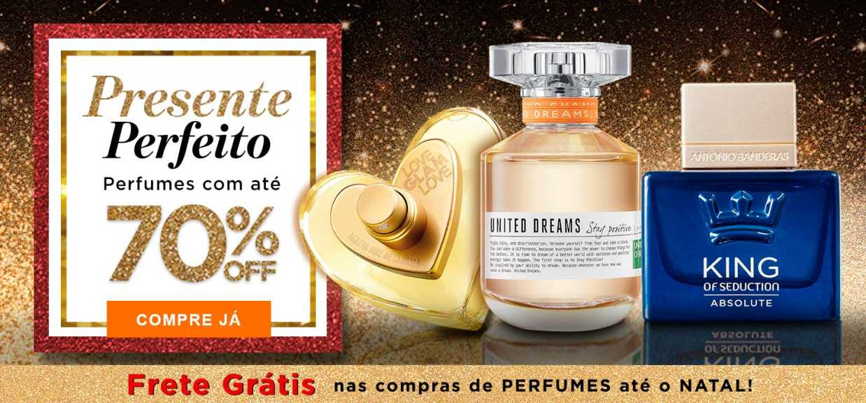 Perfumes 1: Perfumes até 70%OFF