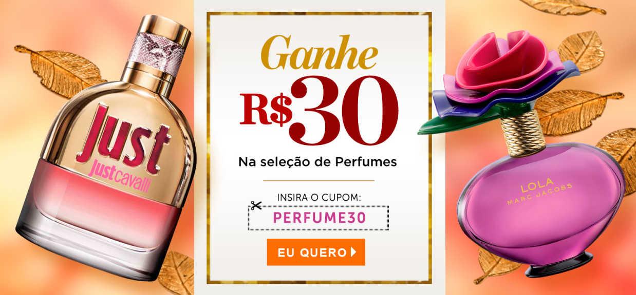 Perfumes: Ganhe R$30