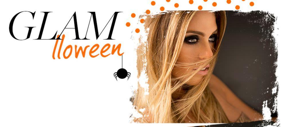 Maquiagem preta para Halloween