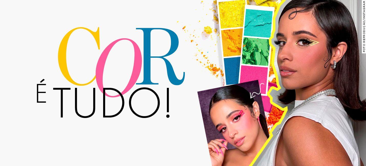 3 maquiagens coloridas de Camila Cabello para copiar já