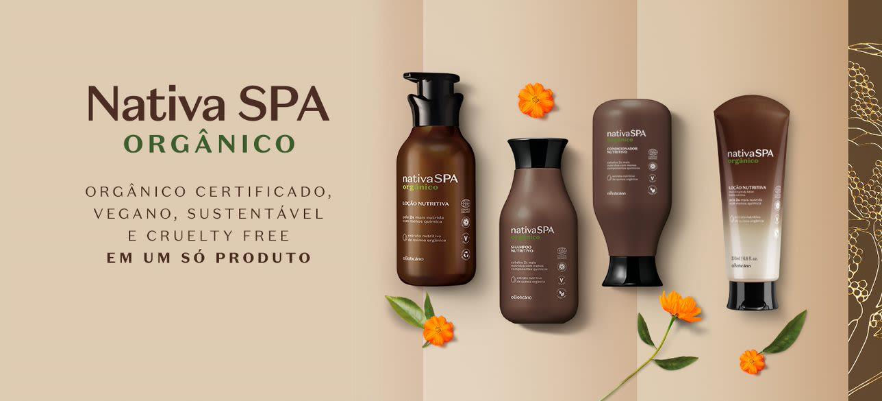 Nativa SPA Orgânico: orgânico certificado, vegano, sustentável e cruelty free