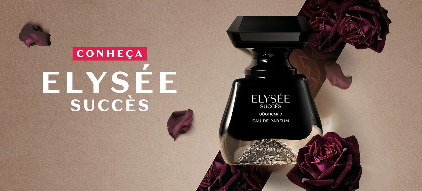 Inspirada na rosa negra da Turquia, Elysée Succès é a nova fragrância feminina do Boticário