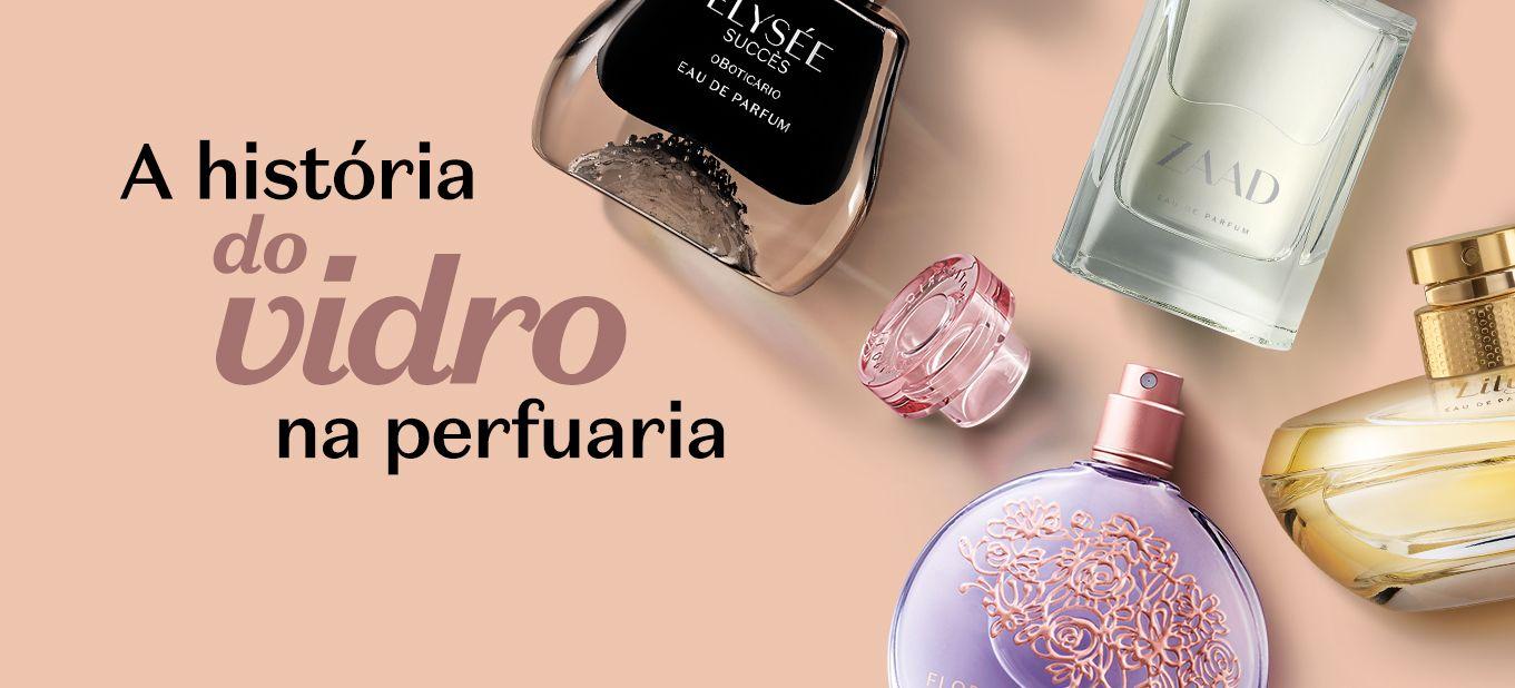 A história do vidro e sua relação com a perfumaria