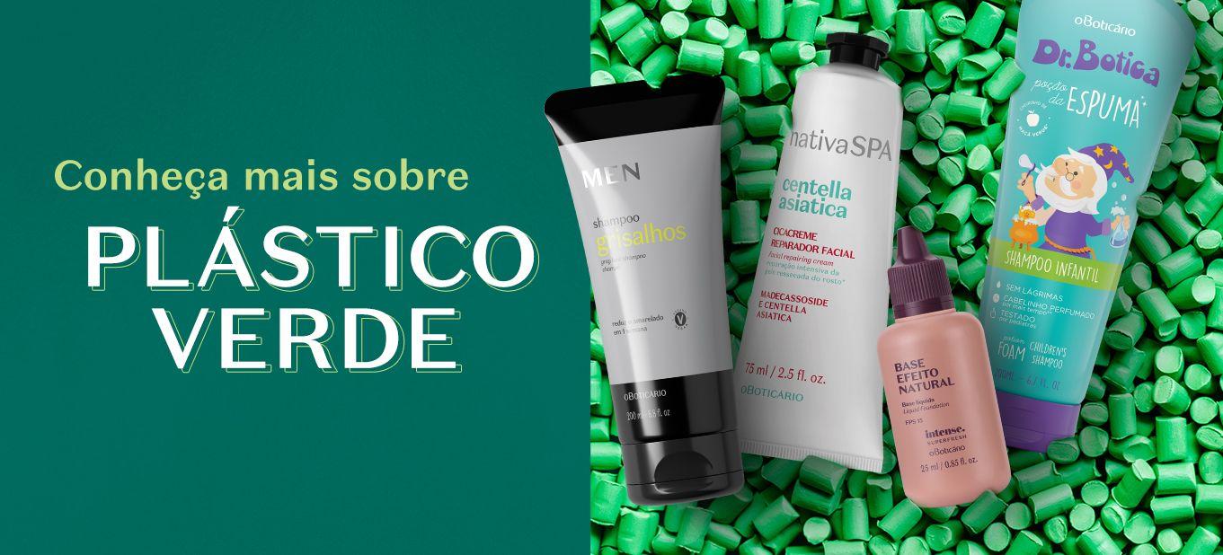 Conheça o plástico verde usado nas embalagens do Boticário
