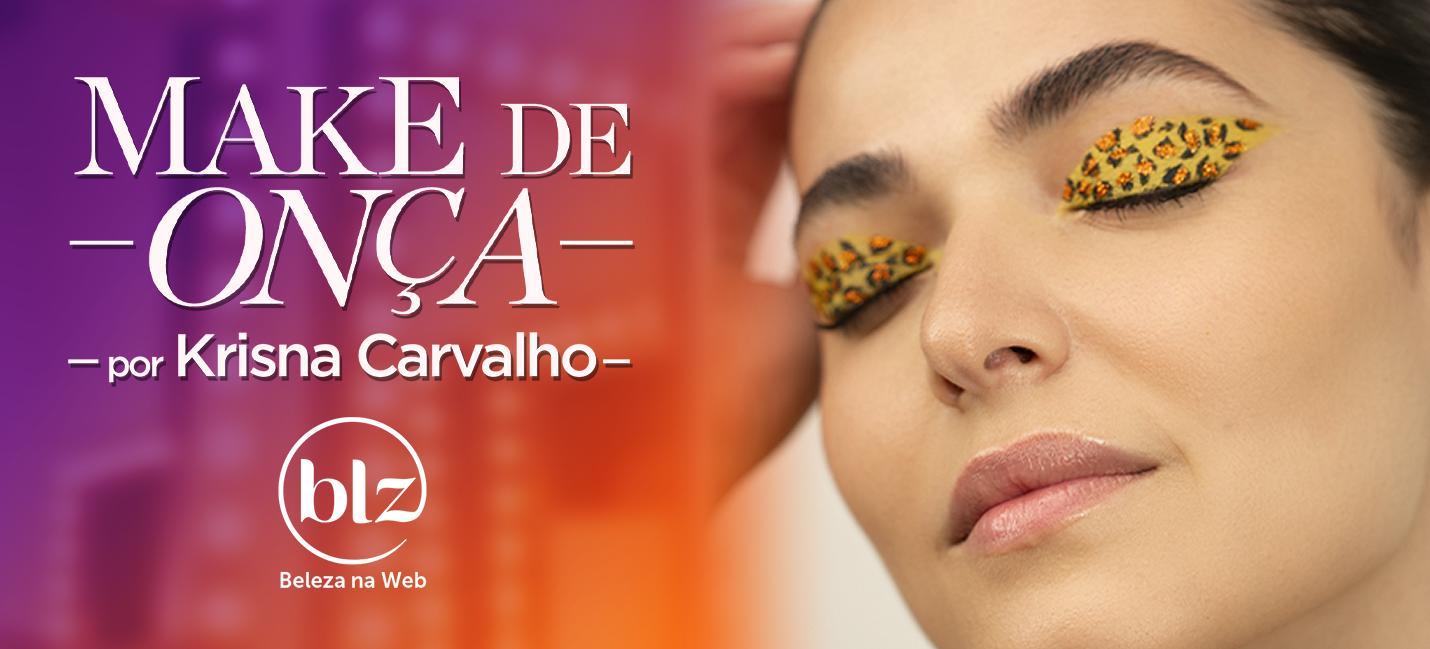 Maquiagem de onça por Krisna Carvalho