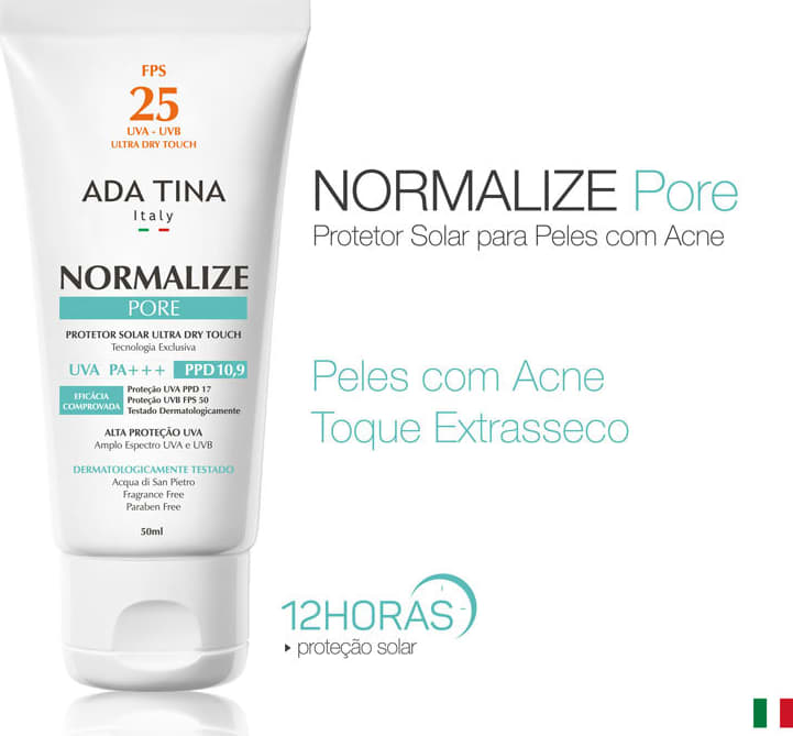 Protetor Solar Ada Tina Normalize Pore Fps 25 Beleza Na Web