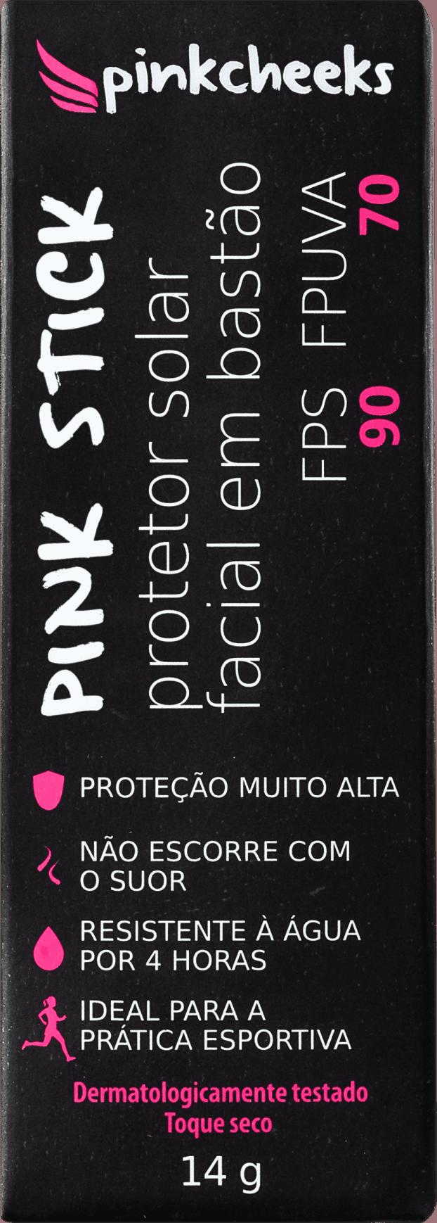 67db2ed34 Pink Cheeks Pink Stick 15KM FPS 90 - Protetor Solar com Cor 14g