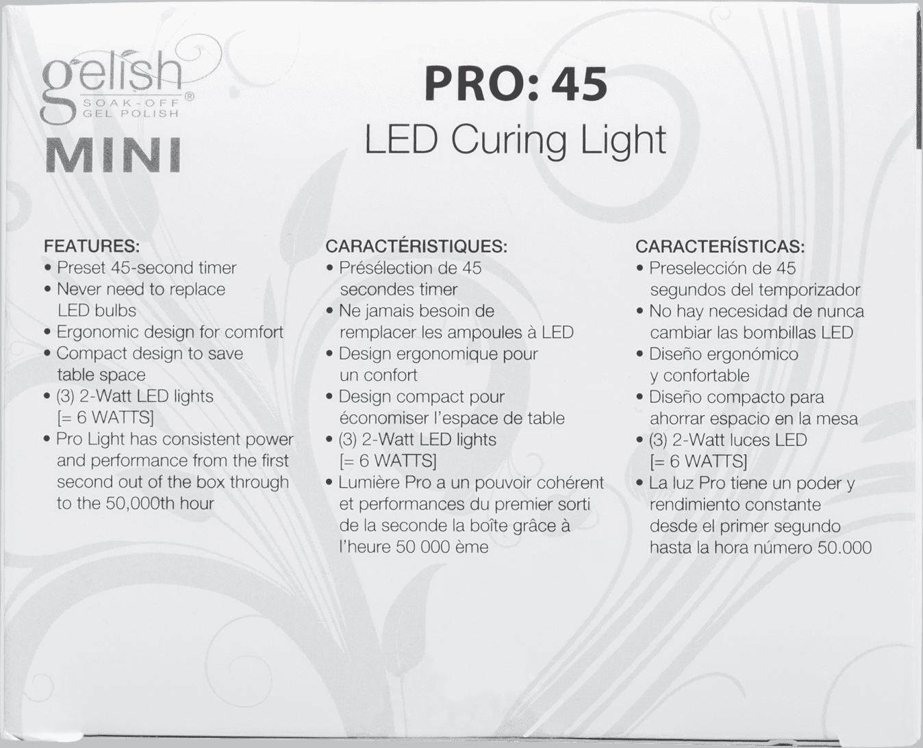 26a355dbe5668 Gelish Mini Pro 45 LED Curing Light - Cabine para Unha em Gel